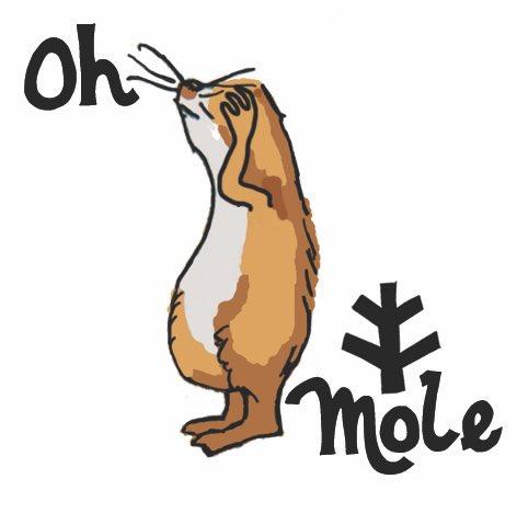 Face palming mole cartoon